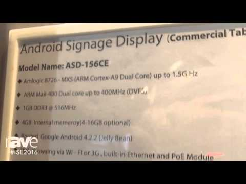 ISE 2016: Shenzhen Enjoy Technology Shows ASD-156CE Android Signage Display