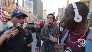 "Black Trump supporter is told ""Niggas like you should be KILLED"" HOLLYWOOD CA"