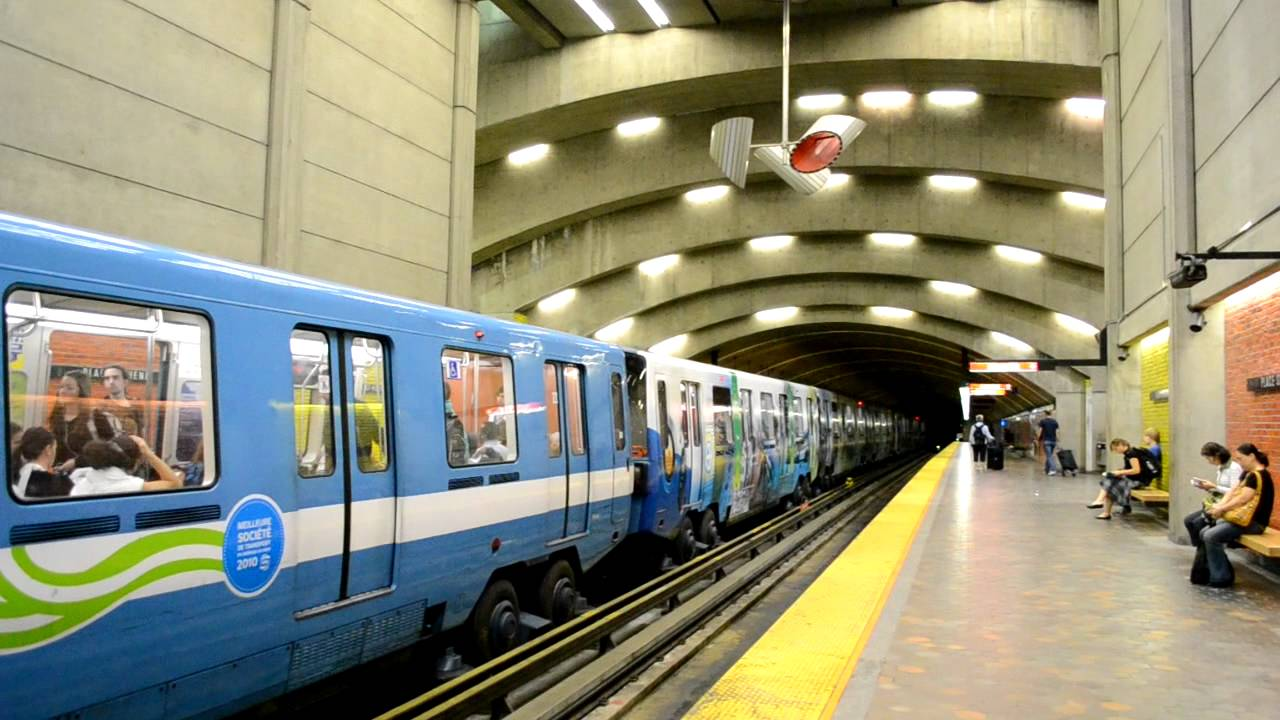 STM Montreal Métro: 150th anniversary train at Place-Saint ...