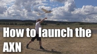 How to launch the AXN Clouds Fly Floater Jet RC plane