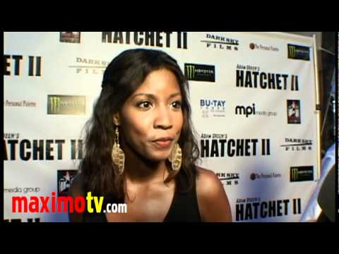 Erika Hamilton Interview at HATCHET 2 Premiere