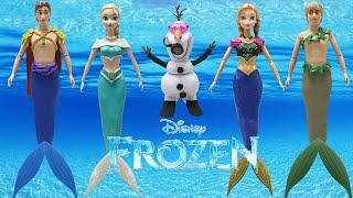 "Play Doh Dresses Disney ""FROZEN"" Elsa Anna Hans Kristoff OLAF MERMAIDS"