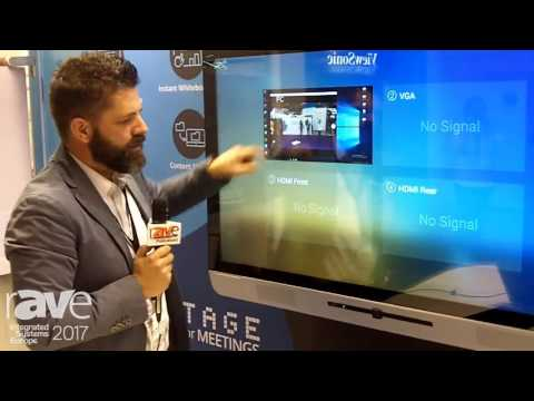 ISE 2017: Newline-Interactive Demos TruTouch X5