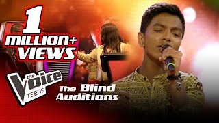 Yugendran Paniyarthnam | Kannaana Kanney | Blind Auditions | The Voice Teens Sri Lanka