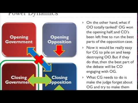 Week 2: Advanced Bp Debating - Tom (2014) video
