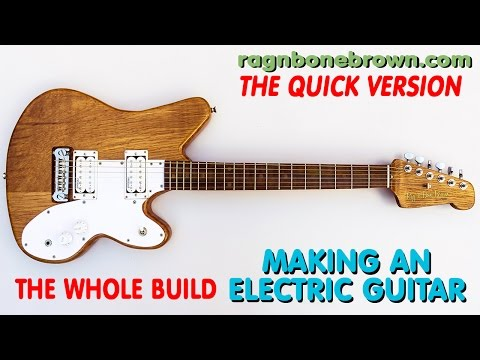 Making An Electric Guitar From Salvaged Oak Whole Build Quick