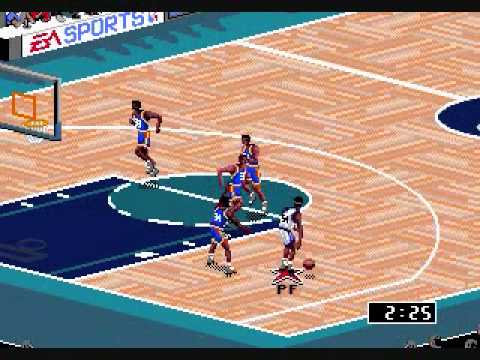 NBA Live '95 Orlando Magic vs New York Knicks 1st Quarter