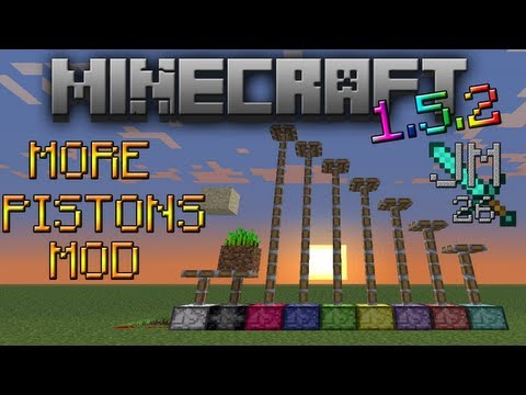 More Pistons MOD Instalación + Review   Minecraft 1.5.2