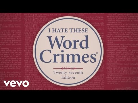 weird Al Yankovic - Word Crimes video
