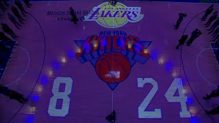The Knicks have a moment of silence in remembrance of Kobe Bryant before their game against the Nets
