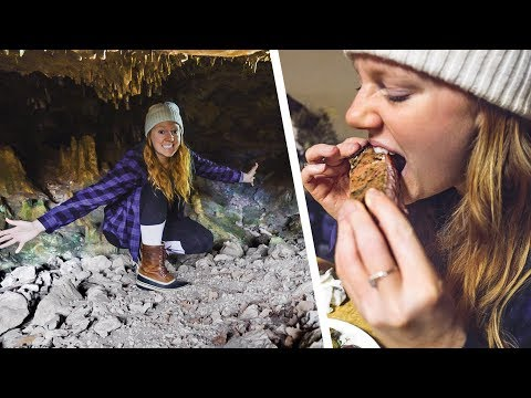 WE FOUND A CREEPY CAVE! + DELICIOUS Barbecue and Fireworks 💥