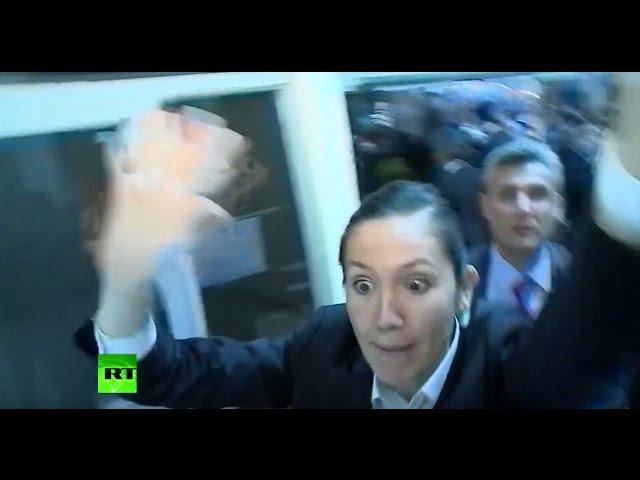'Murderer!' Female protesters interrupt Erdogan's speech in Ecuador