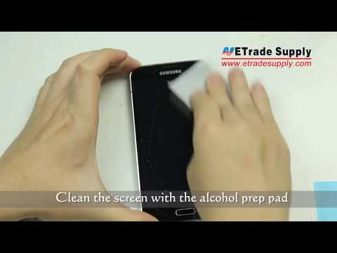 How to Install Galaxy S5 Tempered Glass Screen Protector -- NO BUBBLES!