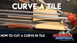 How to cut a curved tile using a traditional tile cutter