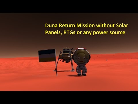 The Battery Life Challenge: Duna Return without Solar Panels, RTGs or any power source