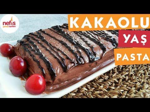 Kakaolu Kremalı Pratik Yaş Pasta - Pasta Tarifi - Nefis Yemek Tarifleri