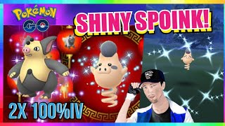 NEW SHINY SPOINK RELEASED + SHINY CAUGHT! Chinese New Year Event in Pokemon Go