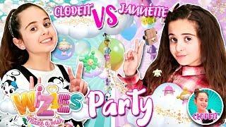 👭 Mi GEMELA y yo celebramos una GLITTER PARTY para los WIZIES 🎉 Hacemos una TARTA de PURPURINA
