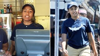 Sasha Obama works summer job on Martha