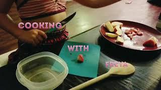 Watch me cut up a fruit salad!