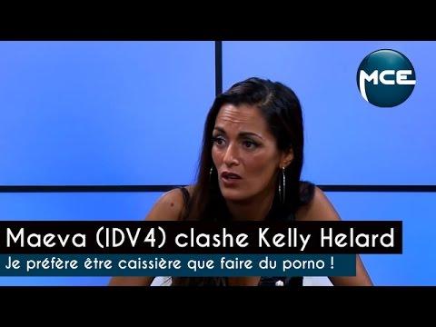 Maeva (IDV4) clashe Kelly Helard je préfère être caissière que faire du porno !