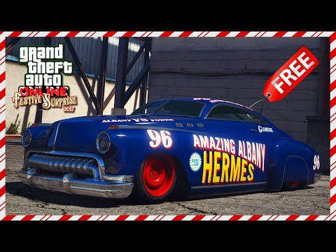 THE BEST FREE VEHICLE IN GTA 5 - GTA Online Festive Surprise 2017 DLC: Albany Hermes Review! (GTA V)