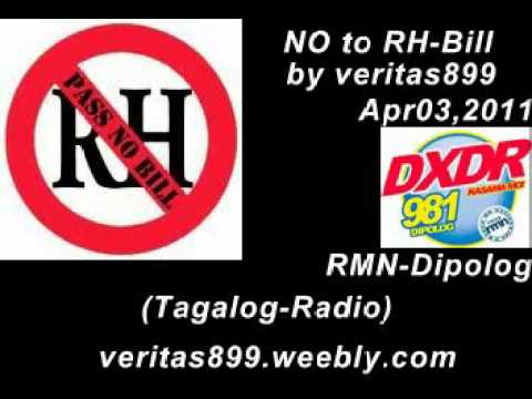 NO to RH-Bill by veritas899 RMN-Dipolog-Apr03,2011 (Tagalog-Radio)