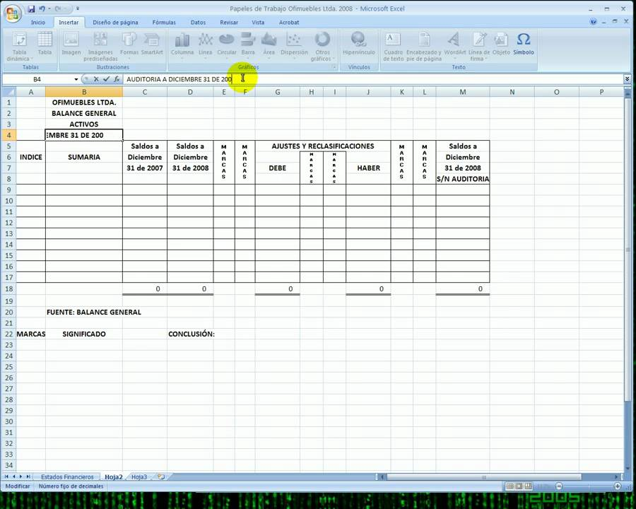 Papeles De Trabajo De Auditoria