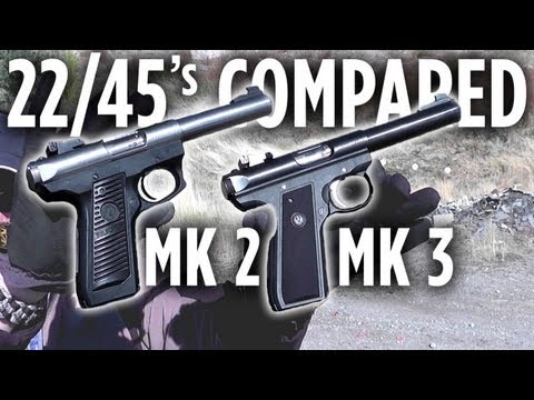 Ruger 22/45: Mark II & Mark III Compared at the Range