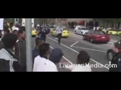 Sinhalese Mob Attacks Tamil Demonstrators In Melbourne video