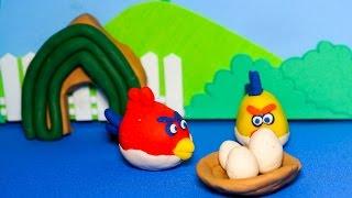 Kể chuyện bé nghe - Câu chuyện về gia đình chim Angry Bird và bọn heo Piggy bằng đất sét Play doh
