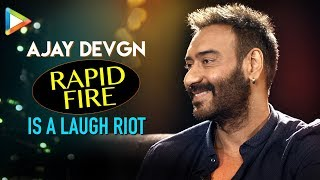 Ajay Devgn's HILARIOUS Questions for Ranveer Singh & Aamir Khan are LAUGH RIOT | Rapid Fire