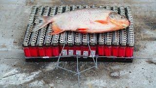 NTN  - Thử Nướng Cá Bằng 300 Chiếc Bật Lửa (Roasting fish by 300 lighters)