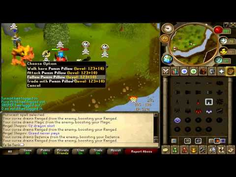 Runescape PvPBH Pk Video 1 .:Ye Im Tank:. -High Risk Hybridding...