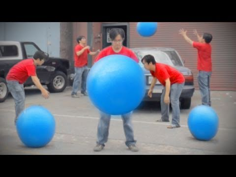 Big Blue Ball Machine