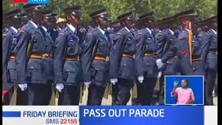President Uhuru Kenyatta officiates pass out of over 4000 police officers at Kiganjo