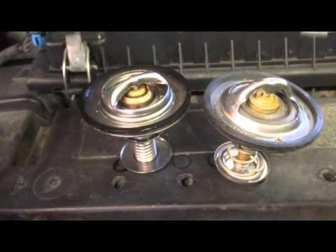 Ford 7.3 Powerstroke coolant leak. (Thermostat) - YouTube