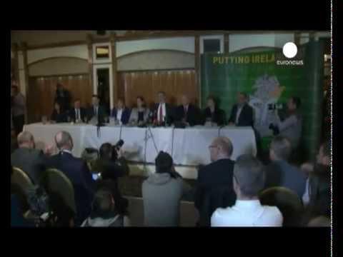 Sinn Fein leader Gerry Adams released