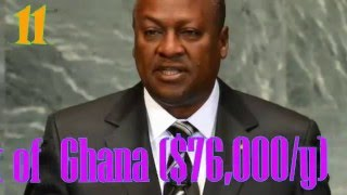 Top 15 Highest Paid African Presidents 2016