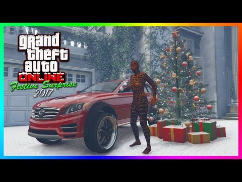 GTA Online Festive Surprise 2017 DLC SNOW IS HERE - Christmas Gifts, NEW Vehicle Released & MORE!