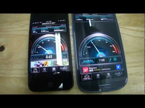 IPhone 5 vs Galaxy S3 Speed Test   (Sprint 3G vs T-Mobile 4G HSPA+)
