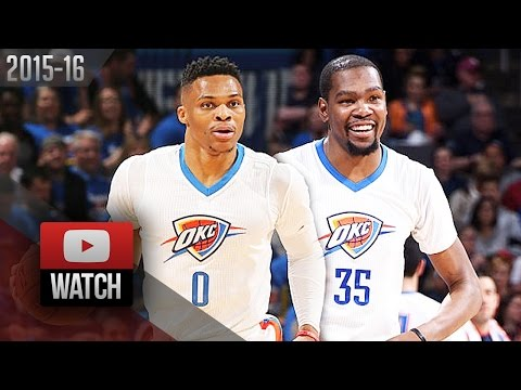Kevin Durant & Russell Westbrook Full Highlights vs Mavericks 2016 Playoffs R1G1 - 47 Pts Total!