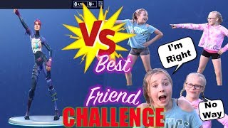 REAL LIFE FORTNITE DANCE CHALLENGE! BFF BATTLE! TOO FUNNY!!!