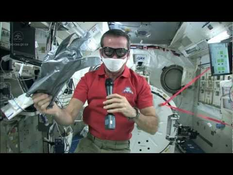 Chris Hadfield takes care of Space Station spills