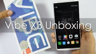 Vibe X3 Lenovo's flagship Smartphone Unboxing & Overview