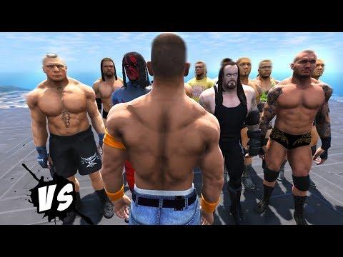John Cena VS WWE Superstars (GTA V WWE Mods) thumbnail