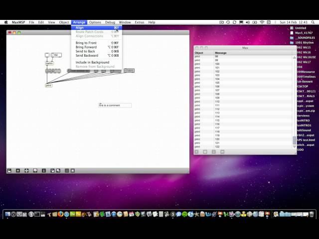 Max MSP Tutorials 00a4: Basics: Basic Shortcuts/Fluency