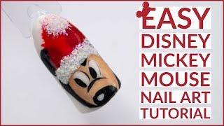 Christmas Nail Art Tutorial 🎄 | Mickey Mouse Nail Art | Disney Design