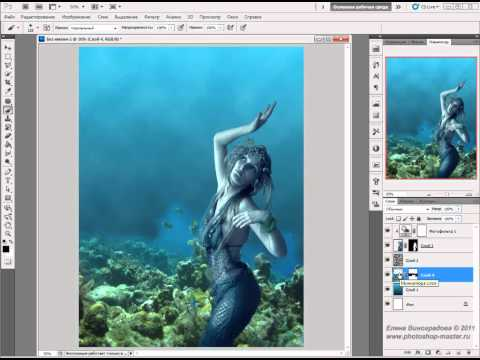 Фото-монтаж коллаж фотошоп Водная нимфа | danilidi.ru