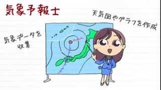 職業紹介【気象予報士篇】~将来の仕事選びに役立つ動画